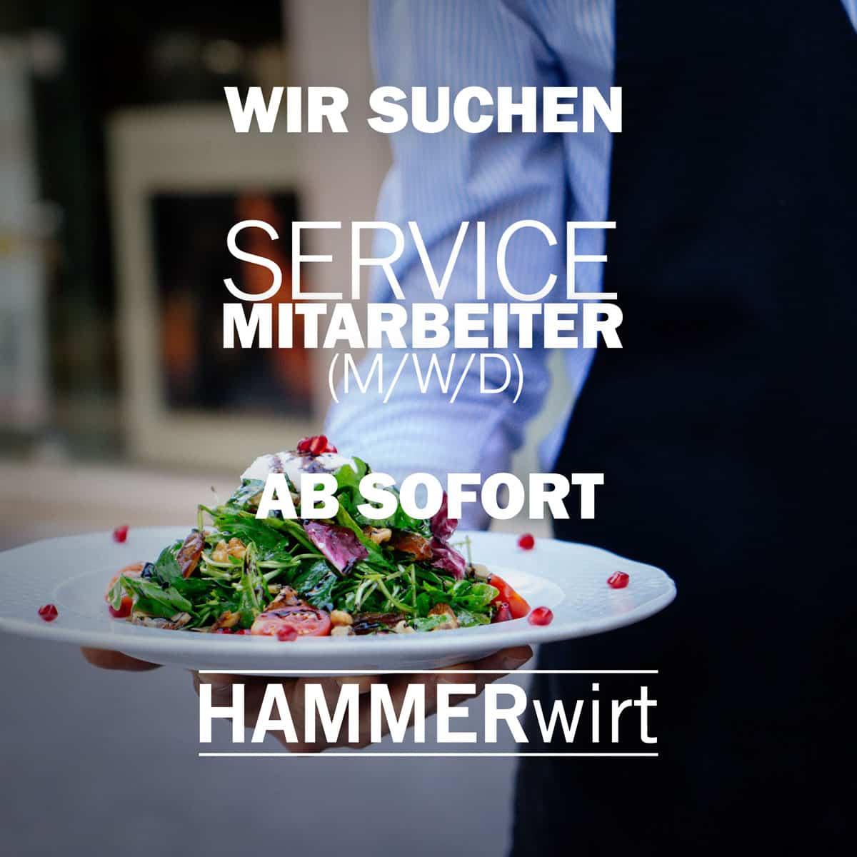 Hammerwirt Salzburg - Jobangebot - Servicemitarbeiter (m/w/d) - Ab sofort